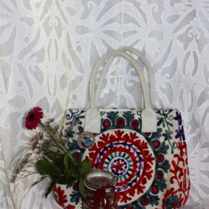 Kalima Henkel- Tasche, Hand bestickt