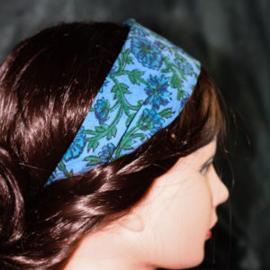 Haarband Indigo Handdruck