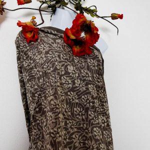 Großes Tuch -Handdruck mit Lehmstein