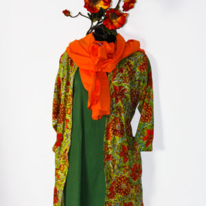 "Kimono kurz ""Grün küsst Orange"""