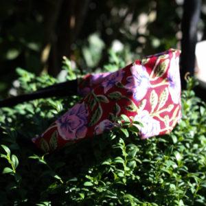 """Haarband """"Rosen Sommer"""" in Türkis und Rot"""