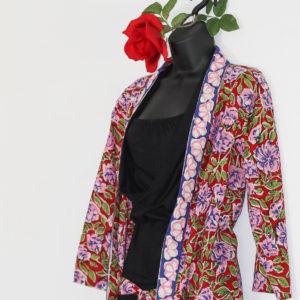 """Kimono, Mantel """"Rosen Sommer"""""""
