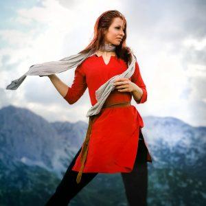 Tunika Kleid Rosen - Rot