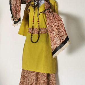 """Tunika Kleid """"Kalima"""", passend zur Henna Kollektion, Gelb"""