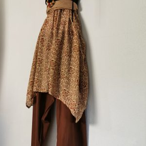 Hose Kalima , leichte Baumwolle, unifarben in Kupferbraun
