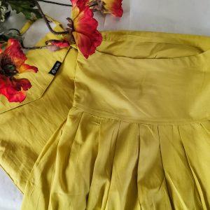 Hose Kalima , leichte Baumwolle, unifarben in Gelb