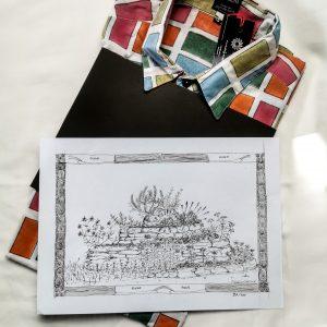 Spezial Edition! Herren Hemd, Sevengardens + einem Kunstdruck von Peter Reichenbach