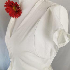 Wickelbluse Weiß- Baumwolle, Batist